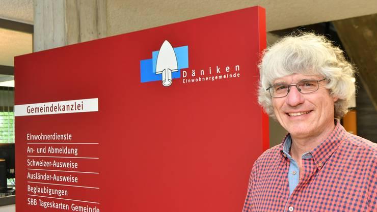 Nach vier Amtszeiten ist Schluss: Gemeindepräsident Gery Meier auf der Gemeindekanzlei in Däniken.