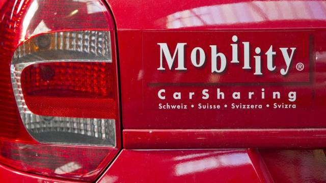 Ein Mobility CarSharing-Auto in Winterthur
