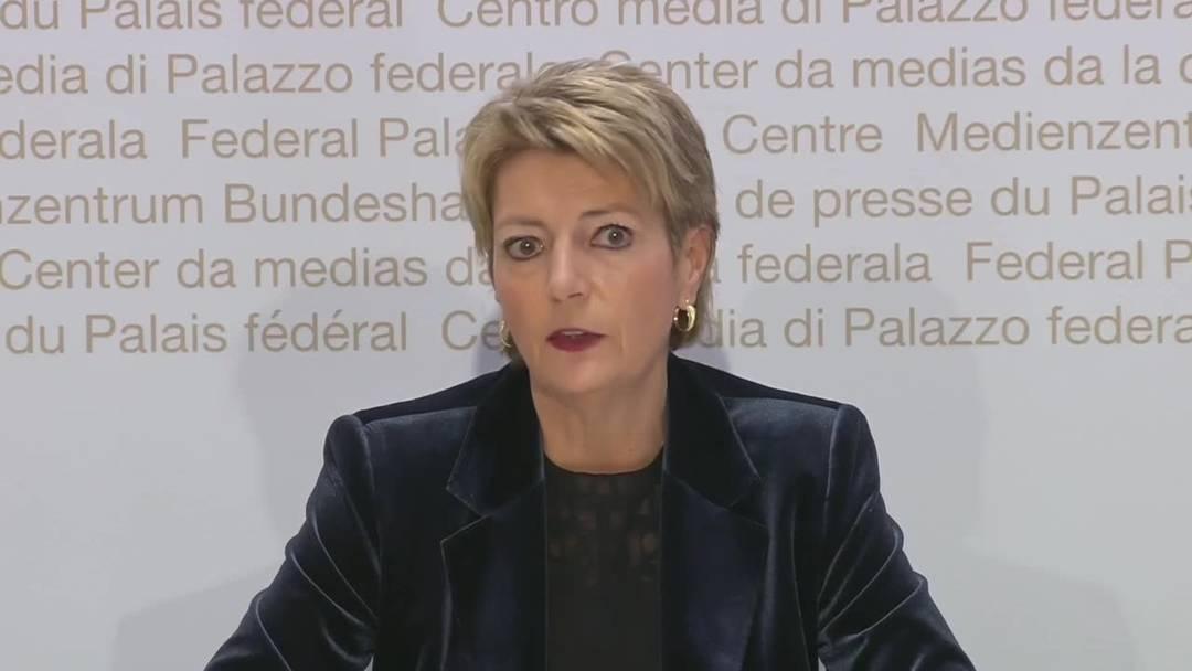 """Karin Keller-Sutter: """"Der Bundesrat freut sich über den heutigen Entscheid"""""""