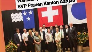 Kandidaten der SVP Aargau mit Gregor Rutz
