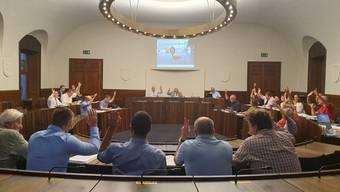 Seine Sitzung hielt der Gemeinderat diesmal ausnahmsweise im Kantonsratssaal ab.