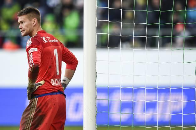 Tomas Vaclik ärgert sich über den Gegentreffer