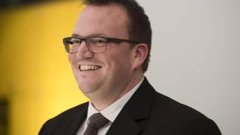 Stefan Semela, neuer Einwohnerratspräsident Obersiggenthals, kurz nach seiner Wahl