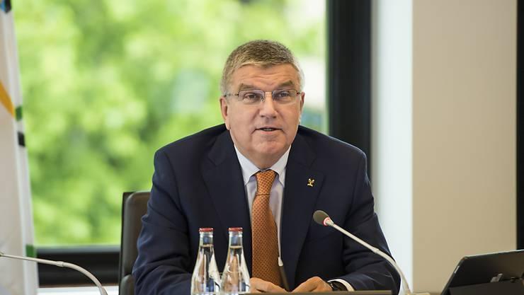 IOC-Präsident Thomas Bach freut sich über die neuen Sportarten im olympischen Programm