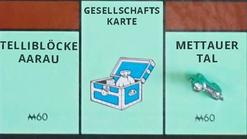 Das AZ-Monopoly auf Basis von Leser-Inputs: Nach dem Start geht es in die Gemeinde Mettauertal.