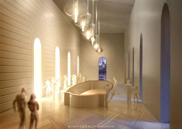 Das Foyer von innen.