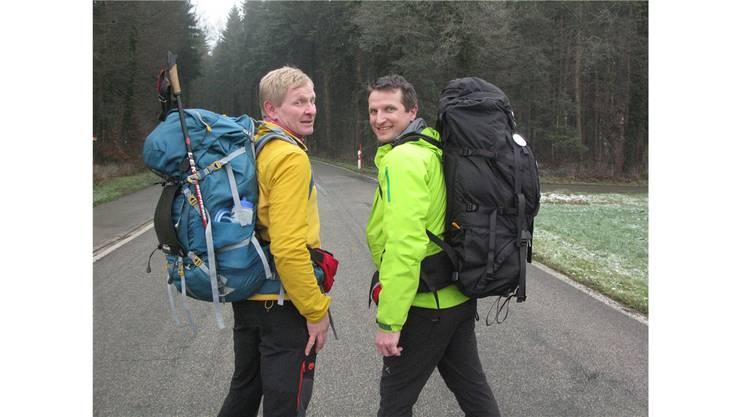 So waren die beiden beim Start im Januar unterwegs.