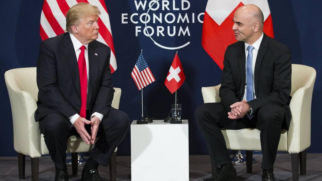 Donald Trump Alain Berset WEF