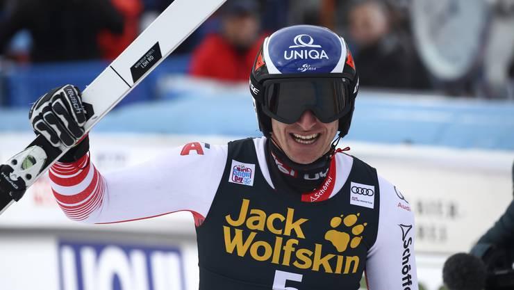 Der Österreicher Matthias Mayer (29) gewann überraschend die Weltcup-Kombination von Wengen.