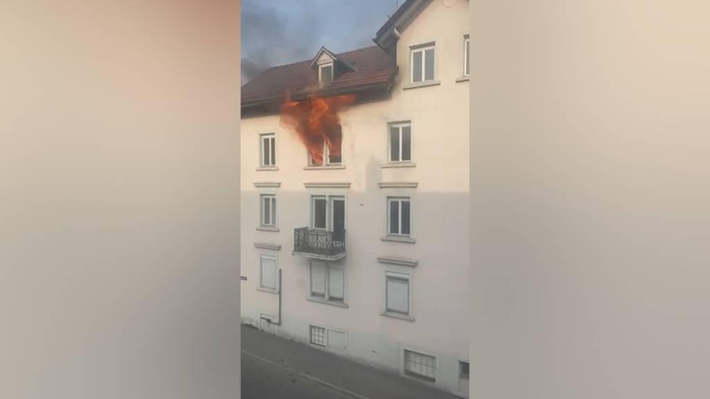 St. Gallen: Wohnungsbrand fordert Leichtverletzten