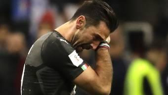 Niedergeschlagen wie ganz Fussball-Italien nach dem Verpassen der WM: Gianluigi Buffon