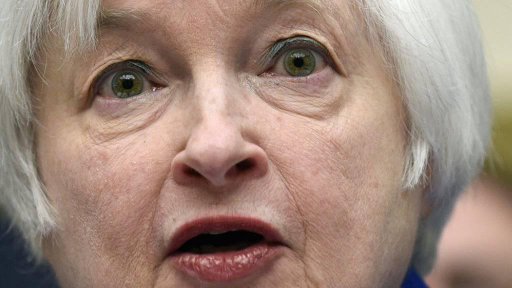 Janet Yellen, die Chefin der amerikanischen Notenbank Fed, lässt den Leitzins vorderhand unverändert. (Archiv)