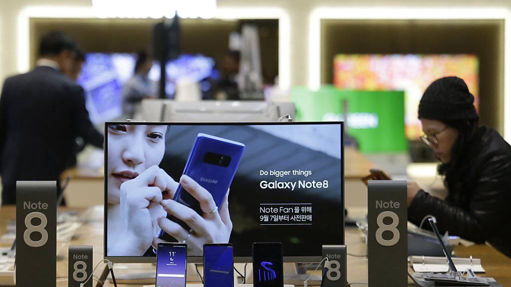 Ergebnis fast verdreifacht: Beim Apple-Rivalen Samsung floriert das Geschäft mit Handys und weiterer Elektronik.