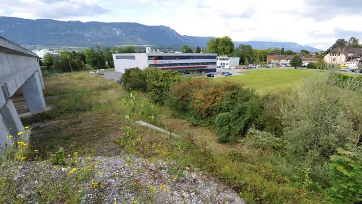 Zwischen der Westumfahrung und dem Mondaine-Haus könnten die Standplätze gebaut werden.