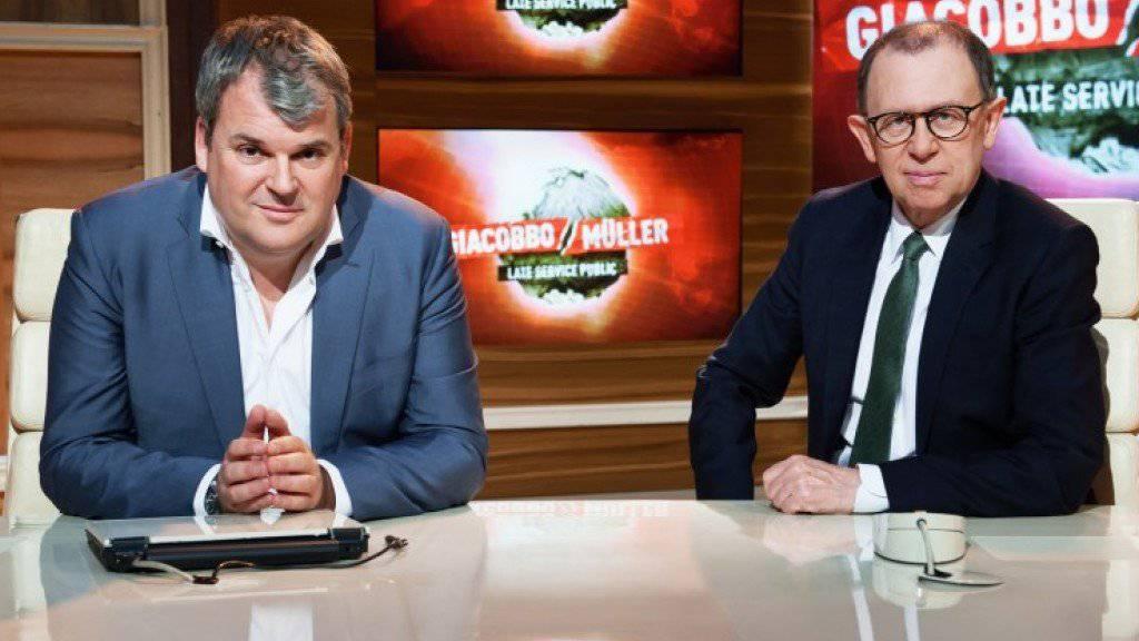 In ihrer Satire-Sendung machten sich Viktor Giacobbo und Mike Müller über das Gendersternchen lustig. Das gefällt nicht allen. (Archivbild)