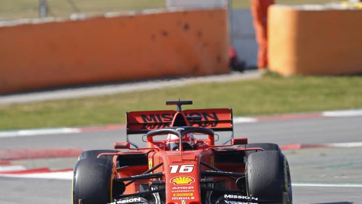 Charles Leclerc zeigt im Ferrari einen guten Test in Spanien
