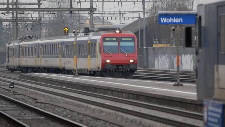 Bahnverkehr: Zwischen Wohlen und Muri ist aktuell mit Verspätungen und Ausfällen zu rechnen.