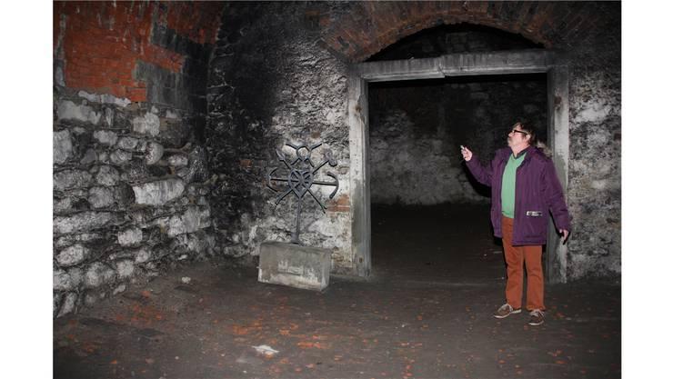 Der Nachtwächter von Beromünster, Ludwig Suter, hat Zugang zum ehemaligen Eiskeller.