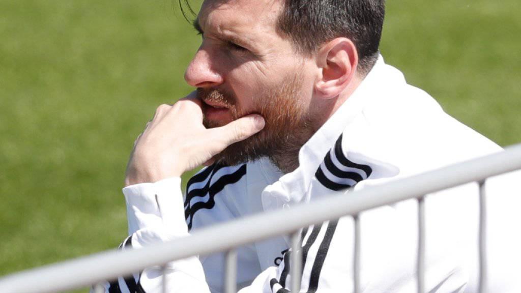 Ruhe vor dem Sturm: Argentiniens Star Lionel Messi ist vor dem WM-Startspiel gegen Island gelassen