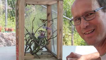 Den Raupenkasten hat Schmetterlingsmann Werner Herger selber konstruiert.
