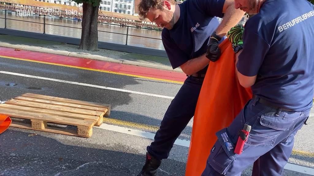Schutzbauten werden abgebaut – Kapellbrücke wieder offen