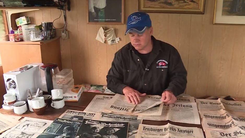 Sammler ergattert historische Zeitungen in Abrisshaus