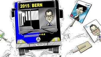Diesen Donnerstag beginnt der az-Wahlkampfbus seine Fahrt durch alle 11 Aargauer Bezirkshauptorte.