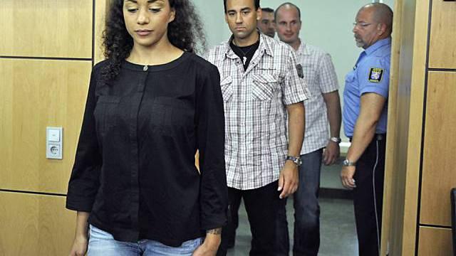 Nadja Benaissa vor der Urteilsverkündung im Amtsgericht Darmstadt