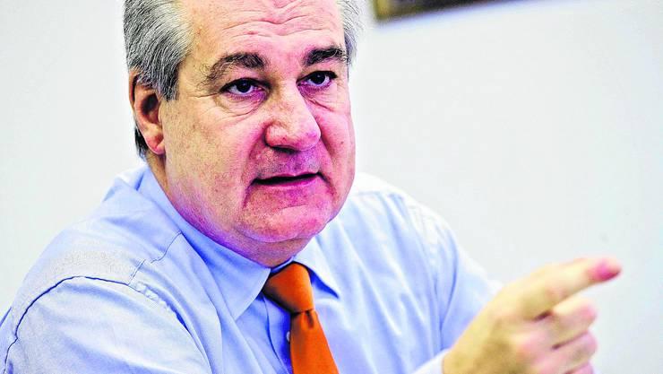 Im Stadthaus: Stadtpräsident Boris Banga zieht Bilanz. (Felix Gerber)