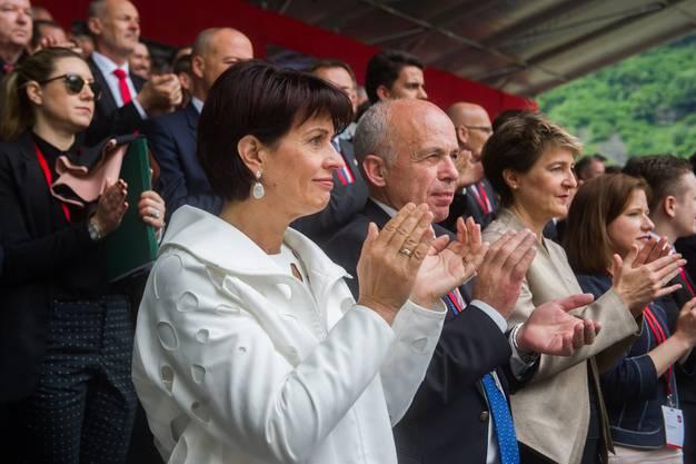 Die Bundesräte Doris Leuthard und Ueli Maurer