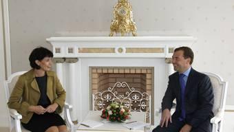 Von Präsidentin zu Präsident: Doris Leuthard traf Dimitri Medwedew in Sotschi