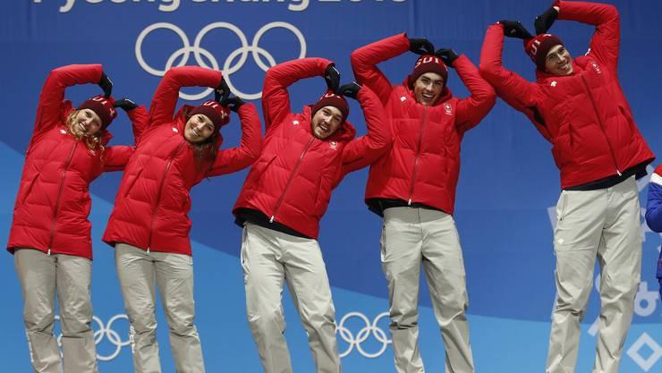 Gold, Ski Alpin Swiss Mixed Team