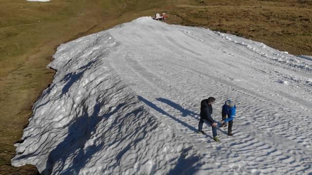 Piste mit präpariertem Schnee