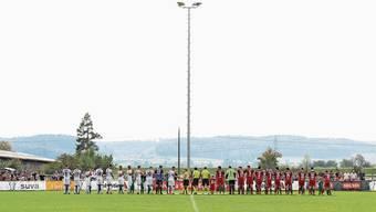 Mehrere Teams des FC Klingnau (hier im Schweizer Cup gegen den FC Chiasso 2018) trainieren auf demselben Platz im Grie.