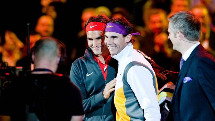Rafael Nadal war 2010 Federers erster Gast beim Match for Africa.