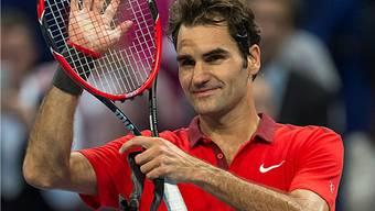 Roger Federer steht in Basel im Halbfinal.