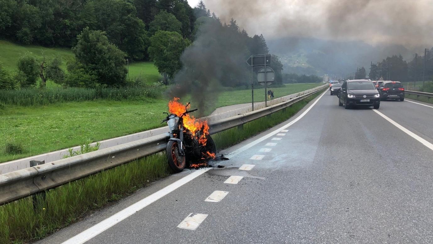 Der Töff reagierte nicht mehr auf das Gas und der Motor schaltete ab.