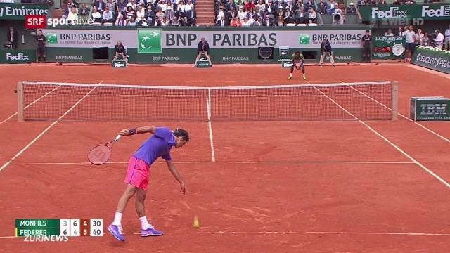 Federer und Wawrinka am French Open weiter