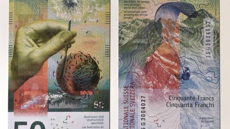 Die neue Schweizer 50-Franken-Note ist der schönste Geldschein des Jahres 2016. (Archivbild)