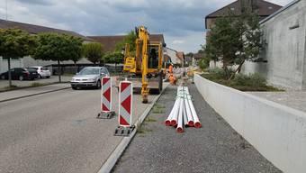 Wegen dieser Baustelle ist die direkte Verbindung von Seengen nach Egliswil gesperrt.
