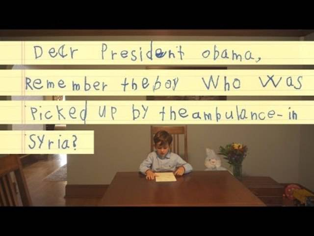 """Lieber Präsident Obama: """"Wir werden ihm eine Familie geben"""""""