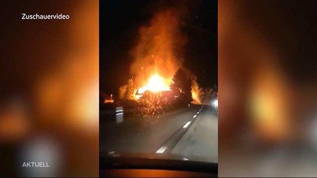 Grossbrand in Buttwil zerstört alten Bauernhof