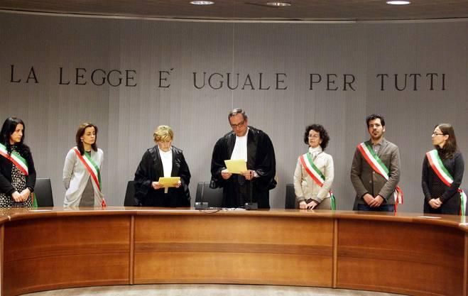 Das Richtergremium, das Amanda Knox in Florenz zu 28 Jahren und 6 Monaten Gefängnis verurteilte.