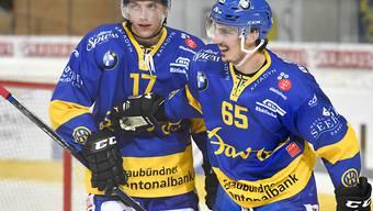 Marc Wieser (rechts, mit Perttu Lindgren) schoss das 2:0