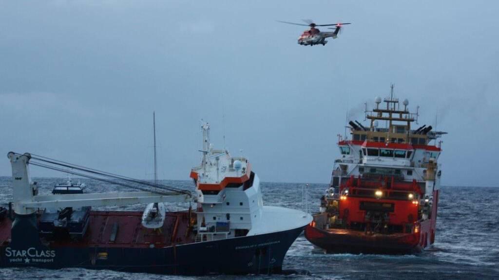Frachter-Unfall geht nochmal glimpflich aus