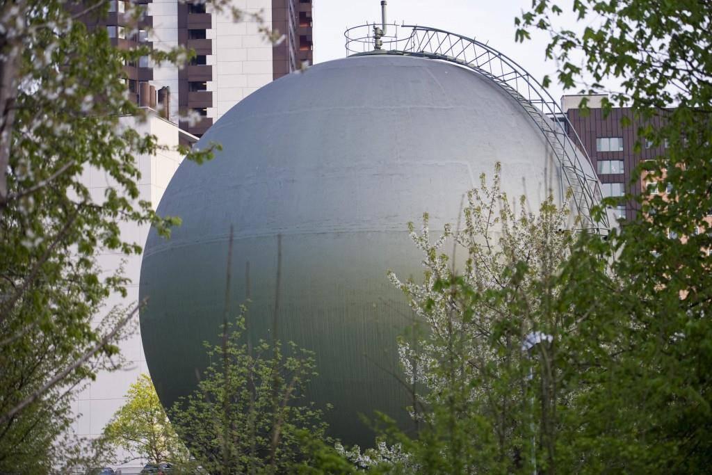 Erdgaskugelspeicher in St.Gallen (© TAGBLATT)