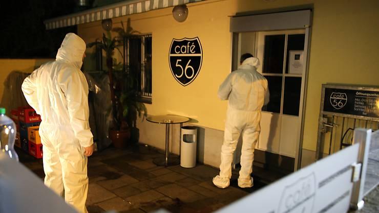 Bei der Schiesserei im Café 56 in Basel sind am 9. März zwei Männer getötet und ein Mann schwer verletzt worden.