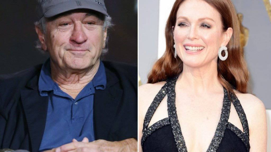 Robert de Niro und Julianne Moore sollen für Amazon eine Mafia-Serie zum Streamen drehen. (Archivbilder)