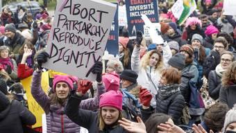 «Marsch für die Würde der Frauen» in Genf.