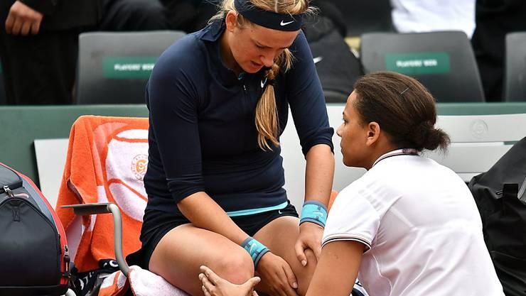 Viktoria Asarenka hatte schon beim French Open Knieprobleme